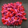 Snuffelmat hond kat fuchsia, paars & rood