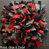 Snuffelmat hond kat rood, grijs & zwart
