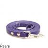 Biothane hondenlijn hondenriem - 3 meter 13mm 16mm - paars - hond riem lijn wandelen