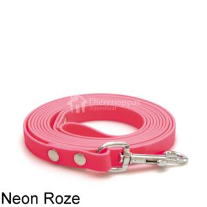 Lange biothane lijn 3 meter 3m riem trainingslijn looplijn geen leder leer voor hond lijn leiband speurlijn hondenriem kleur neon roze