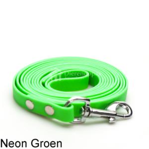 Lange biothane riem voor honden lijn speuren speurlijn hondenriem hond groen leiband