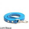 Lange biothane riem voor honden lijn speuren speurlijn hondenriem hond licht blauw leiband