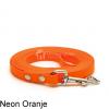 Lange biothane riem voor honden lijn speuren speurlijn hondenriem hond oranje leiband