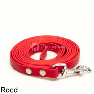 Lange biothane riem voor honden lijn speuren speurlijn hondenriem hond rood leiband
