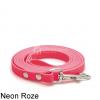 Lange biothane riem voor honden lijn speuren speurlijn hondenriem hond roze leiband