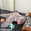 Slaapkussen slaapkleed hondenmand hondenkussen nijlpaard hippo