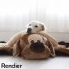 Slaapkussen slaapkleed hondenmand hondenkussen rendier eland