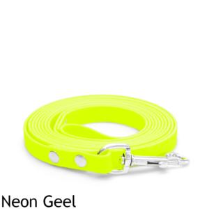 Lange biothane riem 5 10 meter voor honden lijn sleeplijn action welkoop jumper trainingslijn looplijn veldlijn speurlijn hond hondenriem hondenlijn neon geel