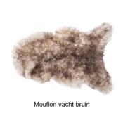 Mouflon Moeflon schapenvacht hondenmand hond puppy Sheepskin dog aanbieding vacht schaap groothandel bruin