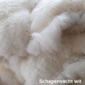 Mouflon Moeflon schapenvacht hondenmand hond puppy Sheepskin dog aanbieding vacht schaap wit spierwit