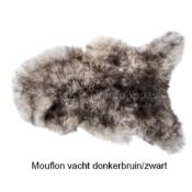 Prachtig echt Mouflon schapenvacht hond honden zwart