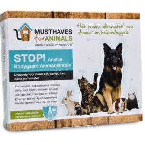 STOP! Animal bodyguard – Natuurlijke anti teken- en vlooiendruppels tekendruppels pipet pipetten homeopatisch alternatief honden katten labradoodle