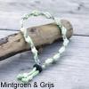 Natuurlijke anti tekenband EM-X keramiek keramische kralen teken vlooien band hond groen