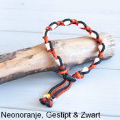 Natuurlijke anti tekenband EM-X keramiek keramische kralen teken vlooien band hond neon oranje