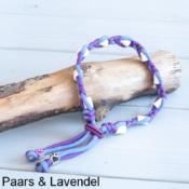 Natuurlijke anti tekenband EM-X keramiek keramische kralen teken vlooien band hond paars