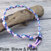 Natuurlijke anti tekenband EM-X keramiek keramische kralen teken vlooien band hond paars roze