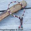 Natuurlijke anti tekenband EM-X keramiek keramische kralen teken vlooien band hond regenboog