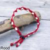 Natuurlijke anti tekenband EM-X keramiek keramische kralen teken vlooien band hond rood