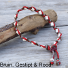 Natuurlijke anti tekenband EM-X keramiek keramische kralen teken vlooien band hond rood bruin