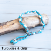 Natuurlijke anti tekenband EM-X keramiek keramische kralen teken vlooien band hond turquoise