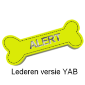 Yellow Alert Bone gele strik botje hond afstand leer