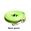 Lange hondenriem hondenlijn antislip rubber extra grip groen