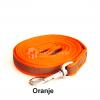 Lange hondenriem hondenlijn antislip rubber extra grip oranje