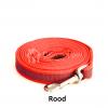 Lange Hondenriem hondenlijn antislip rubber extra grip rood