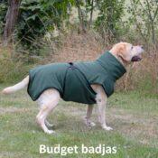 Groene budget chillcoat hondenbadjas honden badjas hond aanbieding