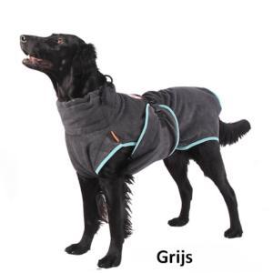 Hondenbadjas badjas hond honden grijs goedkoop aanbieding bestellen
