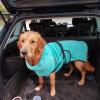 Hondenbadjas chillcoat blauw golden retriever