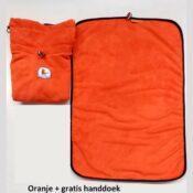 Oranje chillcoat hondenbadjas honden badjas hond