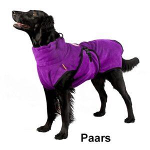 Superfurdogs chillcoat budget chillcoat hondenbadjas honden badjas hond paars