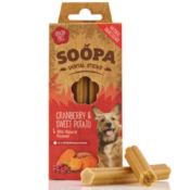 Soopa Sticks Cranberry & Zoete aardappel dental sticks hond