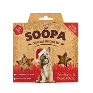 Soopa Sticks kersbox christmas honden dental sticks