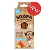 Soopa Sticks puppy pompoen & banaan honden dental sticks dentalsticks dentasticks soopa