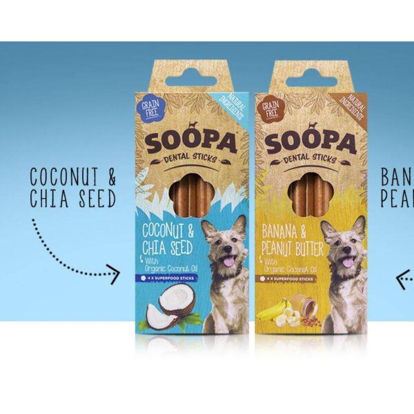 Soopa sticks honden