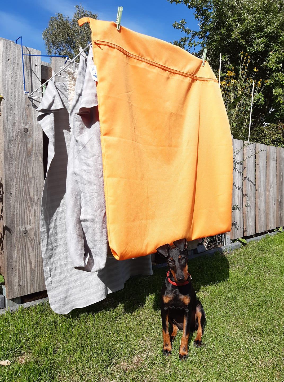 Groot formaat washbag waszak tegen hondenhaar kattenhaar paardenhaar in de schone was wasmachine