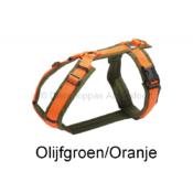 Gevoerd AnnyX Anny X tuig tuigje harnas hond puppy Anny-X fun kleur olijfgroen oranje FOAM gewatteerd fleece