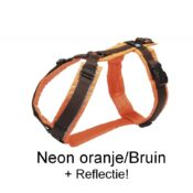 AnnyX Anny X tuig tuigje harnas hond puppy Anny-X protect reflectie limited edition kleur neonoranje bruin