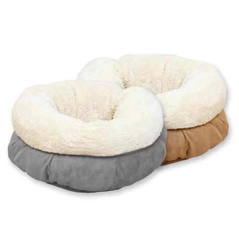 Donutmandje Donut mandje hond kat fleece mand kussen hondenmand hondenkussen2