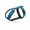 Luxe blauw gevoerd tuig op maat y-tuig hond tuigje y-vorm