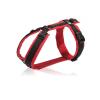 Luxe rood zwart gevoerd tuig op maat y-tuig hond tuigje y-vorm