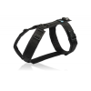 Luxe zwart gevoerd tuig op maat y-tuig hond tuigje y-vorm