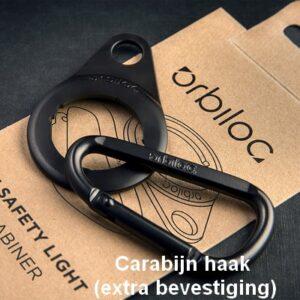 Orbiloc Carabiner extra bevestiging