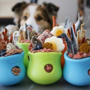 Sterk onverwoestbaar hondenspeelgoed Zogoflex Toppl honden speelgoed kong stevig zwart garantie Toppel topple puppy