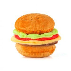 Play Amerikaans eten patat hamburger kipnugget hondenspeelgoed knuffel