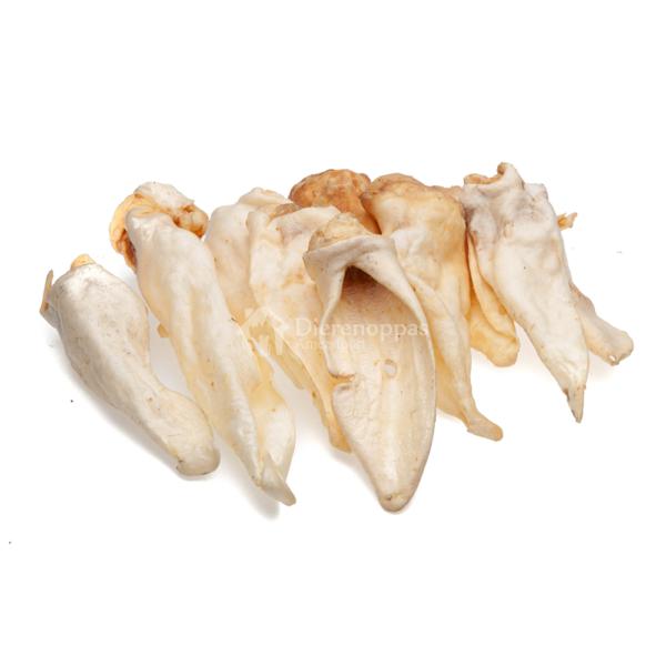 Natuurlijke kauwsnack hond hondensnack geitenoren geiten oren bot kluif