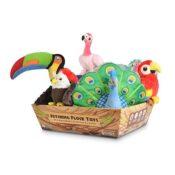 Play tropische vogels papegaai hondenspeelgoed knuffel