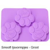 Smoofl ijsvorm ijsmix vormpjes zelf maken honden ijsjes hond honden paars groot